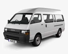 Toyota HiAce Commuter 1992 3D model