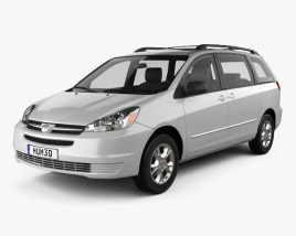 Toyota Sienna LE 2004 3D model
