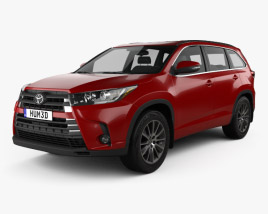 Toyota Highlander SE 2016 3D model