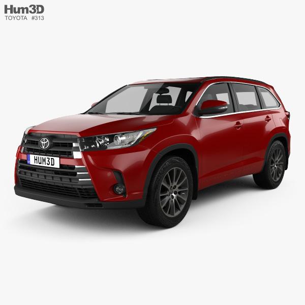 2016 Toyota Camry Pictures: Toyota Highlander SE 2016 3D Model