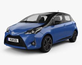 Toyota Yaris Hybrid Bi-Tone 2017 3D model