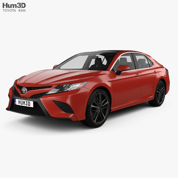 toyota camry xv60 xse with hq interior 2017 3d model hum3d. Black Bedroom Furniture Sets. Home Design Ideas