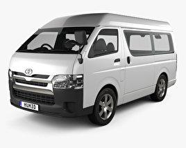 Toyota Hiace Passenger Van L1H3 DX 2013 3D model