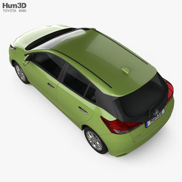 Toyota Yaris Th-spec Hatchback 2018 3d Model