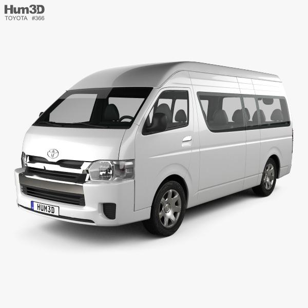 Toyota Awd Van: Toyota Hiace Passenger Van L2H3 GLX 2013 3D Model