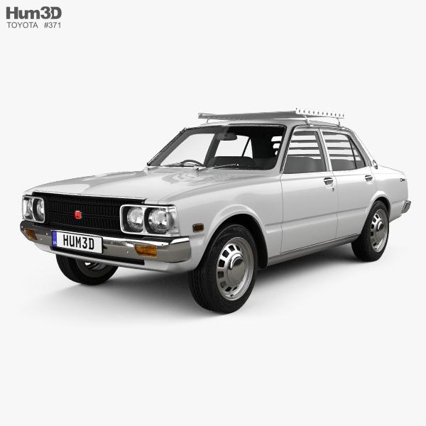 Toyota Corona Sedan 1975 3d Model Vehicles On Hum3d
