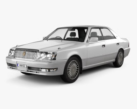 Toyota Crown hardtop 1997 3D model