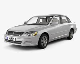 Toyota Avalon XL with HQ interior 2001 3D model