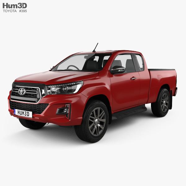 Toyota Hilux Extra Cab Raider 2019 3D model - Vehicles on ...