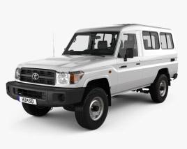 Toyota Land Cruiser (J78) Wagon with HQ interior 2010 3D model