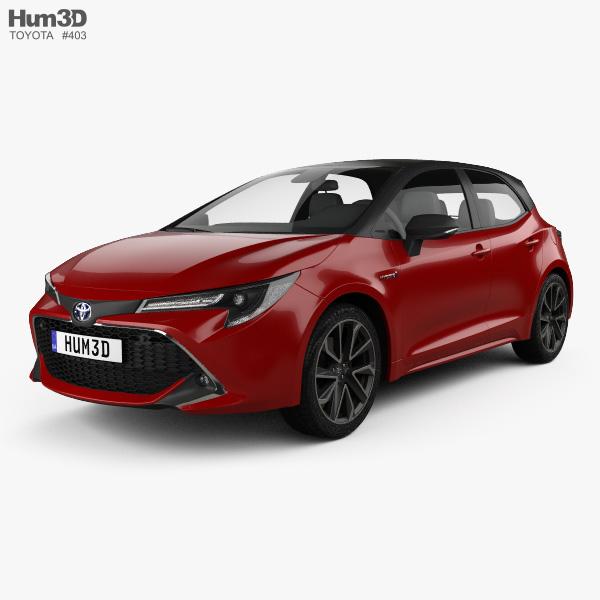 toyota corolla hatchback hybrid 2018 3d model hum3d. Black Bedroom Furniture Sets. Home Design Ideas