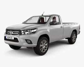 Toyota Hilux Single Cab GLX with HQ interior 2015 3D model
