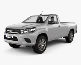 Toyota Hilux Single Cab SR with HQ interior 2015 3D model