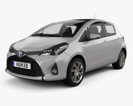 Toyota Yaris Hybrid 5-door 2015 3D model