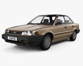 Toyota Corolla sedan 1987 3D model