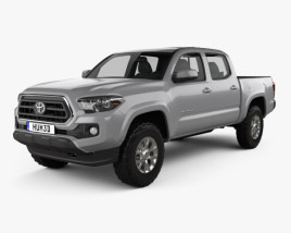 Toyota Tacoma Double Cab Short Bed SR5 2015 3D model
