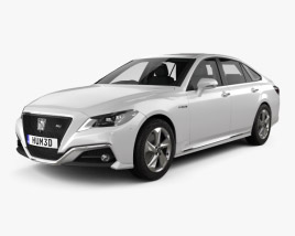Toyota Crown RS Advance with HQ interior 2018 3D model