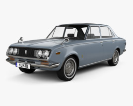 Toyota Mark II sedan 1968 3D model