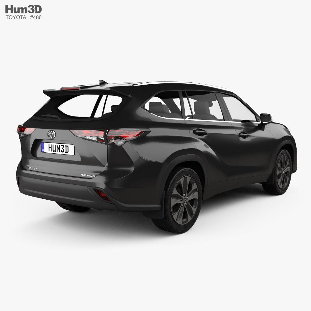 Toyota Highlander XLE 2020 3d model