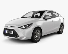 Toyota Yaris XLE CA-spec sedan 2015 3D model