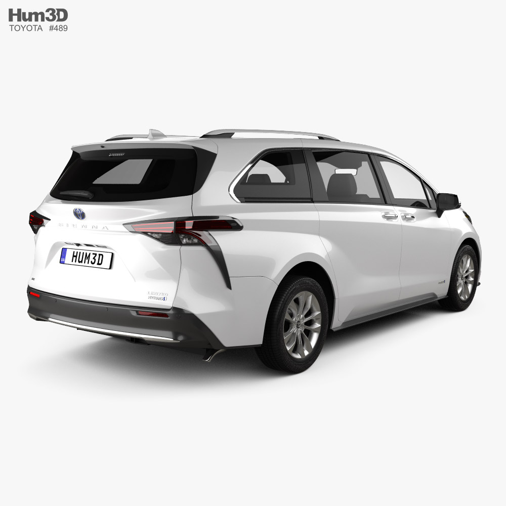 Toyota Sienna Limited 2020 3d model