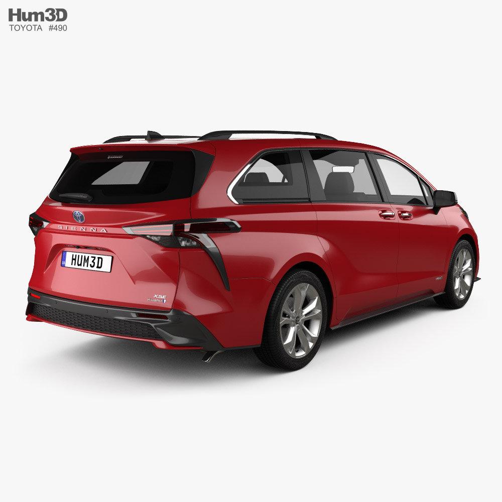 Toyota Sienna XSE 2020 3d model