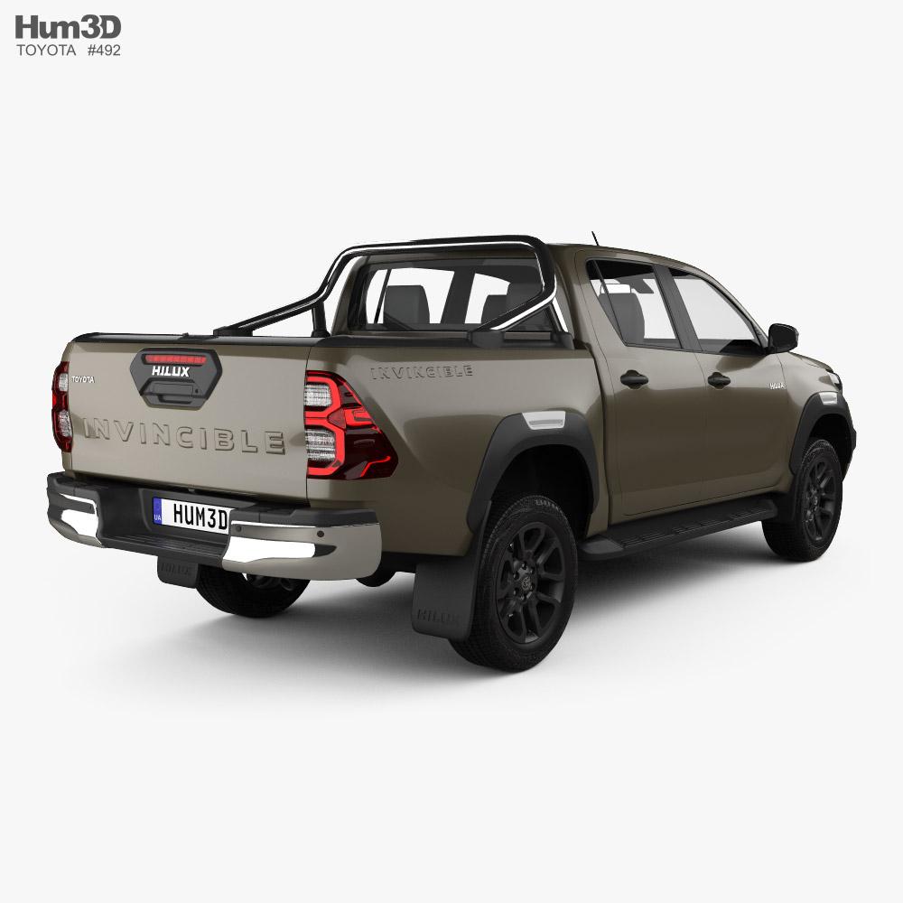 Toyota Hilux Double Cab Invincible 2020 3d model
