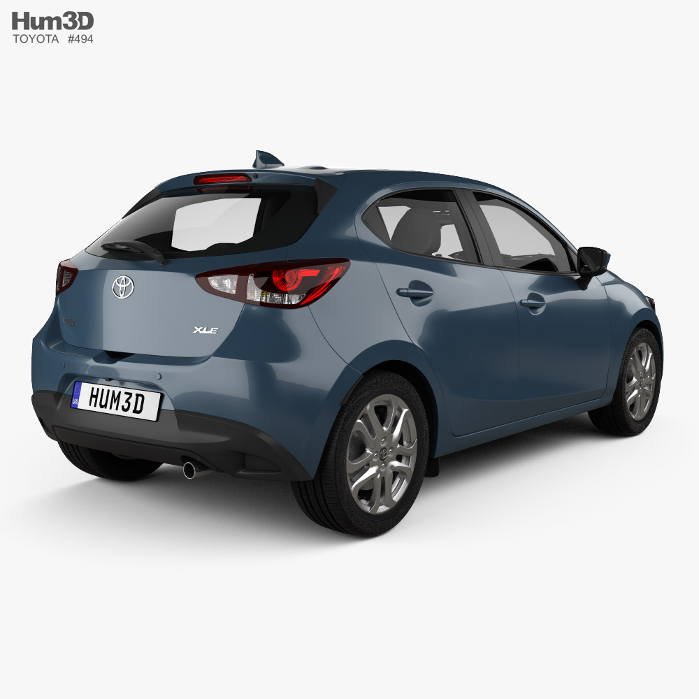 Toyota Yaris CA-spec XLE hatchback 2019 3d model