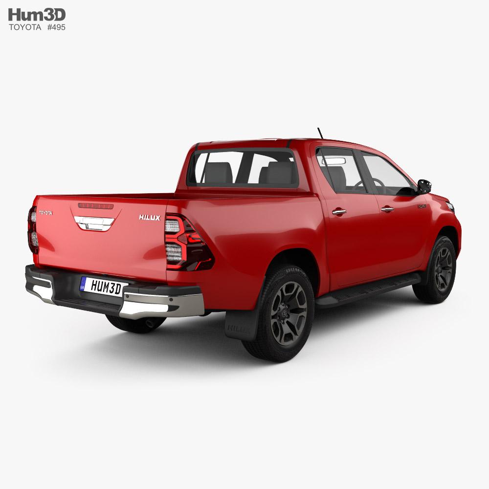 Toyota Hilux Double Cab 2020 3d model