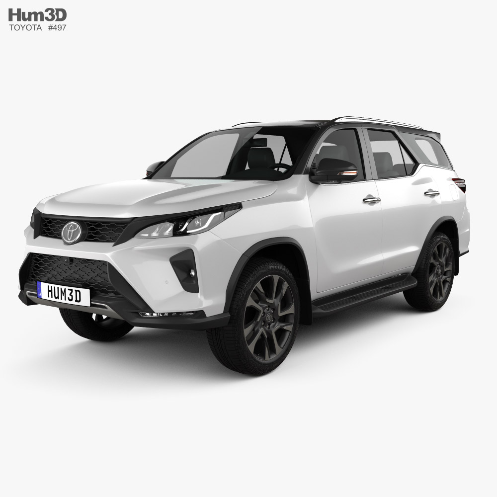 Toyota Fortuner Legender 2020 3d model