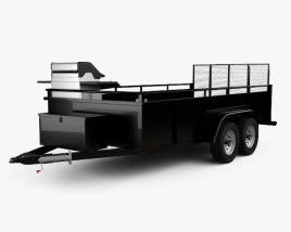Generic Utility Car Trailer 2-axle 2016 3D model