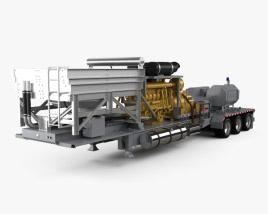 Fracturing Unit Semi-trailer 2018 3D model