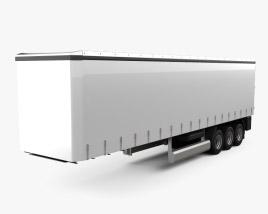 Generic Curtainsider Semi Trailer 2012 3D model