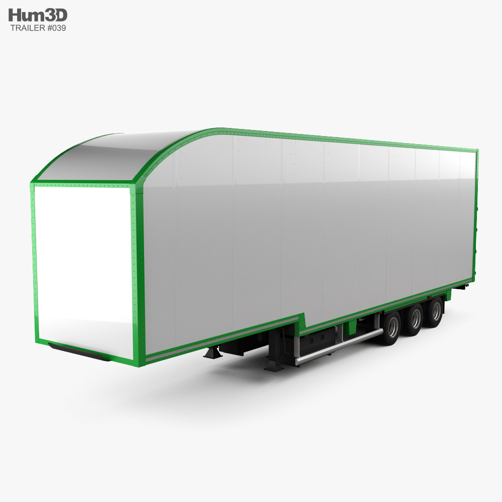 Don-Bur Two-Tier Lifting Deck Semi Trailer 2020 3d model