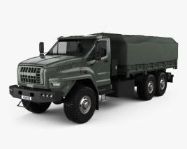 Ural Next Flatbed Canopy Truck 2016 3D model