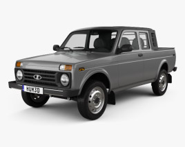VAZ Lada Niva 4x4 2329 Pickup 2015 3D model