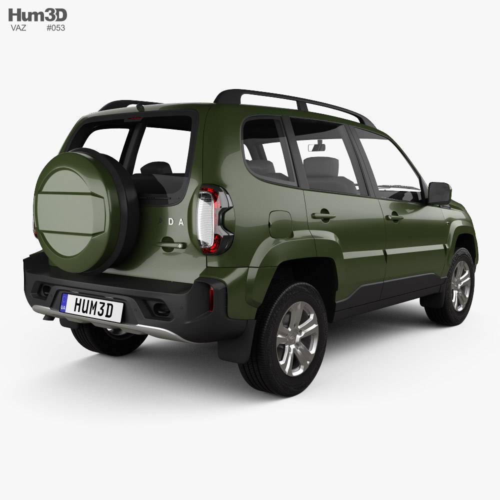 VAZ Lada Niva Travel 2021 3d model