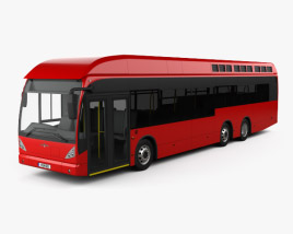 Van Hool A330 Hydrogen Fuel Cell Bus 2012 3D model