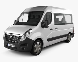 Vauxhall Movano Passenger Van 2010 3D model