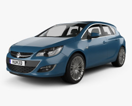 Vauxhall Astra 5-door hatchback 2012 3D model