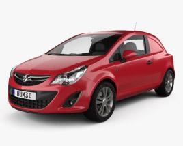 Vauxhall Corsa (D) Van 2010 3D model