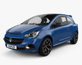 Vauxhall Corsa (E) VXR 3-door hatchback 2015 3D model