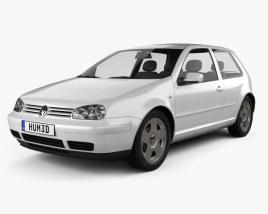 Volkswagen Golf IV 3-door 1997 3D model