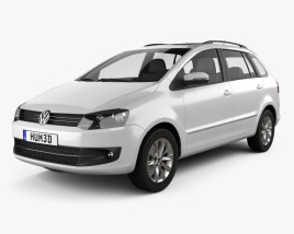 Volkswagen SpaceFox (Suran) 2012 3D model