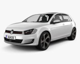 Volkswagen Golf 5-door GTI 2014 3D model