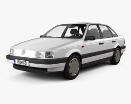 Volkswagen Passat (B3) sedan 1988 3D model