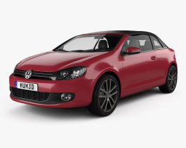 Volkswagen Golf convertible 2011 3D model