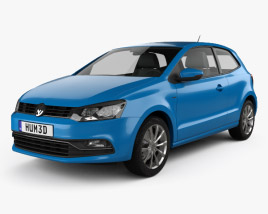 Volkswagen Polo 3-door 2014 3D model