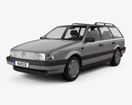 Volkswagen Passat (B3) variant 1988 3D model