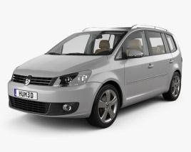 Volkswagen Touran with HQ interior 2010 3D model